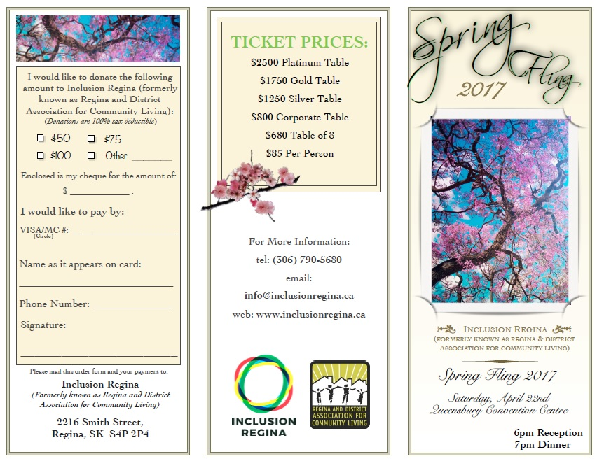 Spring Fling 2017 Brochure Page 1